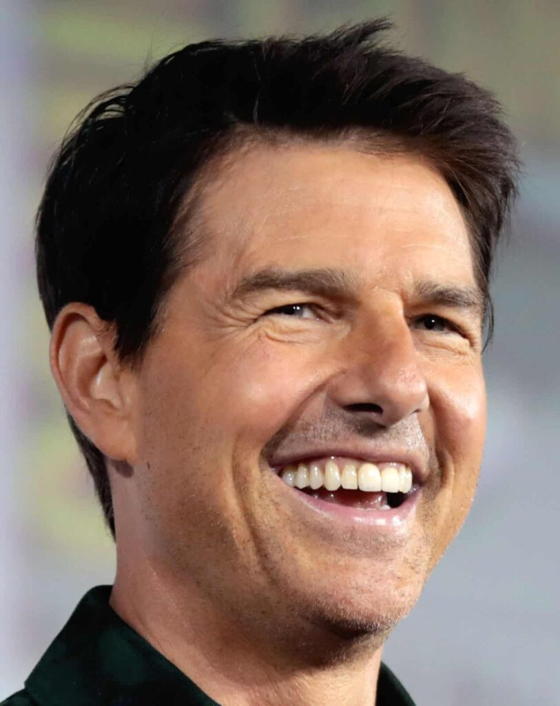 Tom Cruise with square looking Porcelain veneers ​